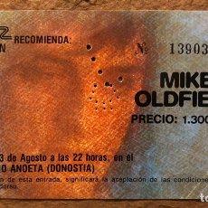 Biglietti di Concerti: MIKE OLDFIELD. ENTRADA COMPLETA HISTÓRICO CONCIERTO VELÓDROMO DE ANOETA (SAN SEBASTIÁN), EN 1984.. Lote 196020843