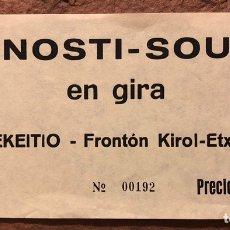 Entradas de Conciertos: DONOSTI SOUND EN GIRA (PUSKARRA + U.H.F + MOGOLLÓN). ENTRADA COMPLETA CONCIERTO EN LEKEITIO (1981).. Lote 196021567