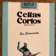 Entradas de Conciertos: CELTAS CORTOS. ENTRADA COMPLETA CONCIERTO FRONTÓN RENTERÍA EN 1992.. Lote 196237497