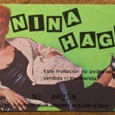 Biglietti di Concerti: NINA HAGEN. ENTRADA COMPLETA HISTÓRICO CONCIERTO EN SALA MORASOL (MADRID), EN 1984.. Lote 196305323
