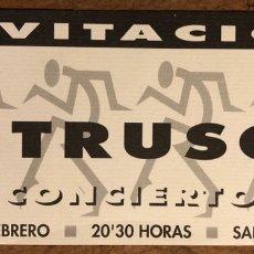 Entradas de Conciertos: INTRUSOS. ENTRADA COMPLETA CONCIERTO EN SALA EN BRUTO (ZARAGOZA) EN 1989.. Lote 196306962