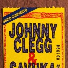 Entradas de Conciertos: JOHNNY CLEGG & SAVUKA. ENTRADA COMPLETA CONCIERTO PABELLÓN ANAITASUNA (PAMPLONA) EN 1993. Lote 196317785