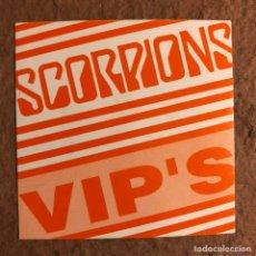 Entradas de Conciertos: SCORPIONS. AUTORIZACIÓN ZONA VIP CONCIERTO GIRA ESPAÑOLA AÑOS 80.. Lote 196320937
