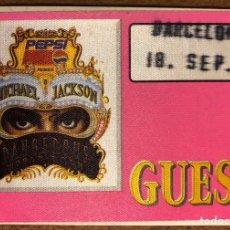 Entradas de Conciertos: MICHAEL JACKSON, DANGEROUS WORLD TOUR. PASE CONCIERTO BARCELONA EN 1992. PEPSI.. Lote 196321158
