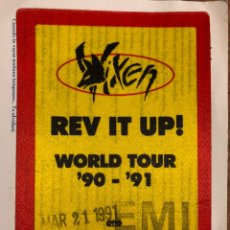 Entradas de Conciertos: VIXEN, REV IT UP! WORLD TOUR 90-91 AUTORIZACIÓN CONCIERTO SALA ZELESTE (BARCELONA) EN 1991. Lote 196321342
