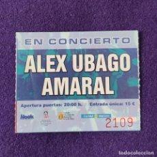 Entradas de Conciertos: ENTRADA CONCIERTO ALEX UBAGO Y AMARAL. VITORIA. MUSICA.. Lote 196498265