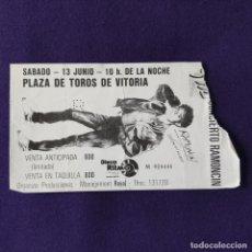 Entradas de Conciertos: ENTRADA CONCIERTO RAMONCIN. PLAZA DE TOROS DE VITORIA. 13 DE JUNIO. MUSICA.. Lote 196498745