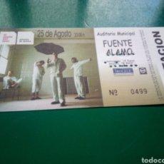 Entradas de Conciertos: ENTRADA ANTIGUA DE UN CONCIERTO MUSICAL DE EL CANTO DEL LOCO. FUENTE ÁLAMO ( MURCIA). Lote 197215812