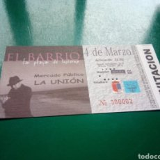 Entradas de Conciertos: ENTRADA ANTIGUA DE UN CONCIERTO EL BARRIO. GIRA LAS PLAYAS DE INVIERNO. LA UNIÓN (MURCIA). 2008. Lote 197218923