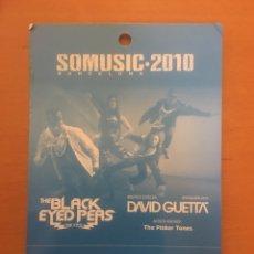 Entradas de Conciertos: PASE STAFF THE BLACK EYED PEAS + DAVID GUETTA BARCELONA 2010. Lote 197320176