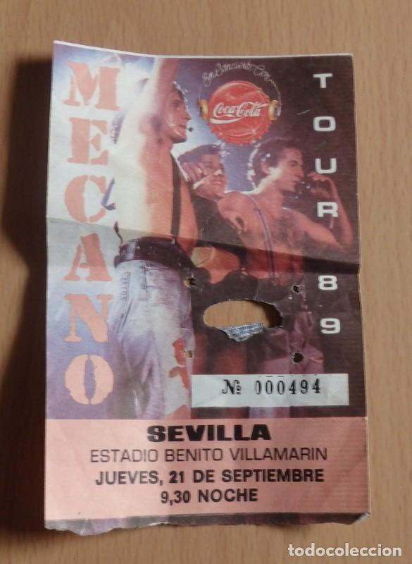 SEVILLA, 1989, ENTRADA CONCIERTO MECANO TOUR 89, ESTADIO BENITO VILLAMARIN (Música - Entradas)