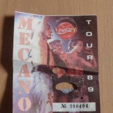 Entradas de Conciertos: SEVILLA, 1989, ENTRADA CONCIERTO MECANO TOUR 89, ESTADIO BENITO VILLAMARIN. Lote 197605697