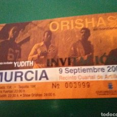 Entradas de Conciertos: ANTIGUA ENTRADA CONCIERTO DE ORISHAS + YUDITH. CUARTEL DE ARTILLERÍA DE MURCIA (MURCIA). 2005. Lote 197643921