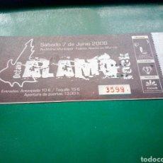 Entradas de Conciertos: ANTIGUA ENTRADA CONCIERTO OCTAVO FUENTE ÁLAMO ROCK( MURCIA). 2008. Lote 197653407