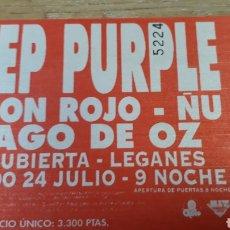 Entradas de Conciertos: ENTRADA DEEP PURPLE BARON ROJO ÑU MAGO DE OZ EN LEGANES. Lote 197854246