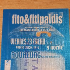 Entradas de Conciertos: ENTRADA INVITACION CONCIERTO DE FITO & FITIPALDIS. Lote 197882277
