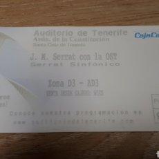 Entradas de Conciertos: ENTRADA CONCIERTO DE SERRAT. Lote 197882605