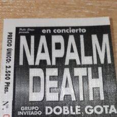 Entradas de Conciertos: ENTRADA CONCIERTO DE NAPALM DEATH. Lote 197882706