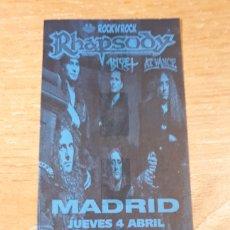 Entradas de Conciertos: ENTRADA CONCIERTO DE RHAPSODY. Lote 197882730