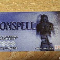 Entradas de Conciertos: ENTRADA CONCIERTO DE MOONSPELL. Lote 197882808