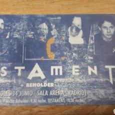 Entradas de Conciertos: ENTRADA CONCIERTO DE TESTAMENT. Lote 197882855