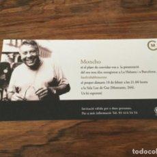 Entradas de Conciertos: MONCHO PRESENTACION NUEVO DISCO SALA LUZ DE GAS. Lote 198204126