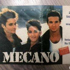 Entradas de Conciertos: ENTRADA MECANO CONCIERTO 1989 ZARAGOZA ROMAREDA. Lote 198889043