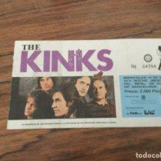 Entradas de Conciertos: THE KINKS. ENTRADA CONCIERTO BARCELONA 1986. Lote 199465753