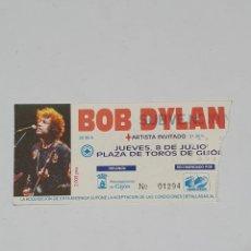Billets de concerts: BOB DYLAN ENTRADA CONCIERTO BOB DYLAN 8 DE JULIO DE 1993 PLAZA DE TOROS DE GIJON. Lote 201560351