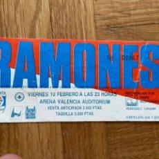 Entradas de Conciertos: ENTRADA CONCIERTO RAMONES ARENA VALENCIA. Lote 203327581