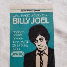 Entradas de Conciertos: BILLY JOEL PASE V.I.P DE CONCIERTO 1980 OPORTUNIDAD COLECCIONISTAS. Lote 203576861