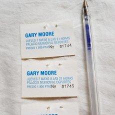 Entradas de Conciertos: GARY MOORE 3 TALONES TICKET CONCIERTO ANTIGUOS BARCELONA OPORTUNIDAD COLECCIONISTAS. Lote 203581840