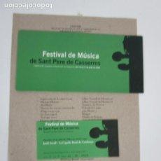Entradas de Conciertos: CONCERT TEMPLE ROMÀ DE VIC, CONJUNT ARS AD LIBITUM - FESTIVAL DE MÚSICA SANT PERE DE CASSERRES. Lote 203790728