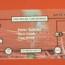 Entradas de Conciertos: PETER GABRIEL ANTIGUA ENTRADA. Lote 204518675