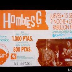 Billets de concerts: ENTRADA HOMBRES G AÑOS 80 CONCIERTO EN ZARAGOZA ENTRADA HOMBRES G AÑOS 80 CONCIERTO EN ZARAGOZA. Lote 205281727