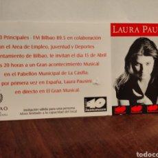 Entradas de Conciertos: LAURA PAUSINI ENTRADA PROMOCIONAL CONCIERTO BILBAO. Lote 205756317