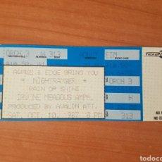 Entradas de Conciertos: ENTRADA CONCIERTO NIGHT RANGER IRVINE MEADOWS 10/10/1987 LOTE 4. Lote 206353715