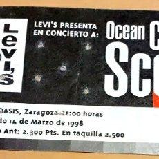 Entradas de Conciertos: ENTRADA OCEAN COLOUR SCENE CONCIERTO SALA OASIS 1998 LEVI'S. Lote 206359548