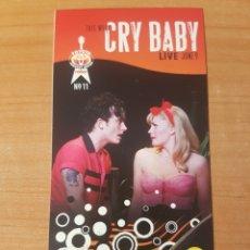 Entradas de Conciertos: ENTRADA CONCIERTO CRY BABY TODAY SHOW 9/6/2008 LOTE 13. Lote 206379976