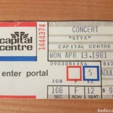 Entradas de Conciertos: ENTRADA CONCIERTO STYX CAPITAL CENTER 13/4/1981 LOTE 17. Lote 206381546