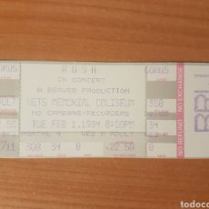 Entradas de Conciertos: ENTRADA CONCIERTO RUSH VETS MEMORIAL COLISEUM 1/2/1994 LOTE 19. Lote 206382136