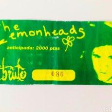 Entradas de Conciertos: ENTRADA CONCIERTO THE LEMONHEADS AÑO 97 SALA EN BRUTO ZARAGOZA. Lote 206359063