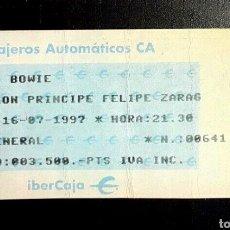 Entradas de Conciertos: DAVID BOWIE CONCIERTO, TICKET GIRA 1997 ZARAGOZA. Lote 206801627