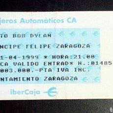 Entradas de Conciertos: BOB DYLAN ENTRADA, TICKET CONCIERTO 1999 ZARAGOZA.. Lote 206801836