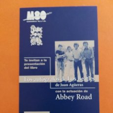 Entradas de Conciertos: INVITACIÓN ENTRADA EVENTO DE LOS BEATLES ABBEY ROAD BARCELONA. Lote 207065793