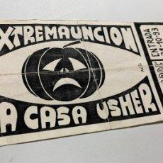 Entradas de Conciertos: ENTRADA ORIGINAL DEL CONCIERTO DE EXTREMAUNCION Y LA CASA USHER AKELARRE BARCELONA 31 OCTUBRE 1993. Lote 207122531