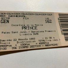 Entradas de Conciertos: ENTRADA ORIGINAL DEL CONCIERTO DE PRINCE PALAU SANT JORDI BARCELONA 23 AGOSTO 1993. Lote 207122737