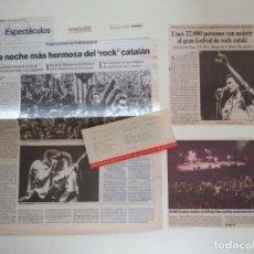 Entradas de Conciertos: ENTRADA DEL MACROCONCERT DE ROCK CATALA AL PALAU SANT JORDI 14-JUNY-1991. Lote 207249710