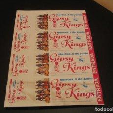 Entradas de Conciertos: GIPSY KINGS SET 4 ENTRADAS PRUEBA DEL PROMOTOR GIRA TOUR PALENCIA 1991 SIN NUMERAR. Lote 207363838