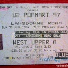 Entradas de Conciertos: ENTRADA U2 POPMART. IRLANDA. DUBLIN. 31 DE AGOSTO DE 1997.. Lote 207409002